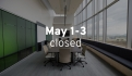 May 1-3 FIBRAIN is closed