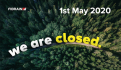 FIBRAIN is closed on May 1st